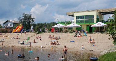Plaża w Alwerni nad Zalewem Skowronek