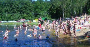 Bathing Beach Nad Linda in Grotniki, Grotnicki Lagoon