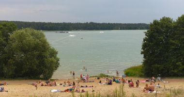 Beach at OW Patelnia in Przewiez, Lake Biale Augustowskie