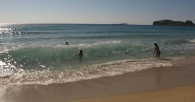 Falassarna Beach on Crete, Mediterranean Sea