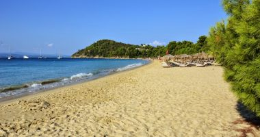 Koukounaries Beach at Skiathos Island, Aegean Sea