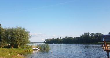 Beach in Wilamowo, Lake Ruda Woda