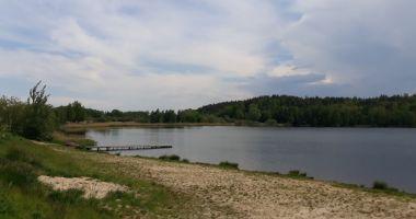 Mrowiny Beach in Zarow, Andrzej Lagoon