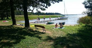 Beach at Camp Park Sonata in Kolonia Harsz, Lake Dargin