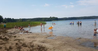 Beach in Narty, Lake Swietajno Narckie