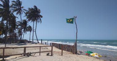 Canto Verde Beach in Beberibe at the Atlantic Ocean