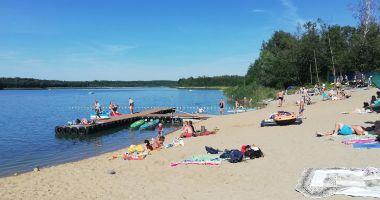 Beach in Treby Stare, Lake Budzislawskie